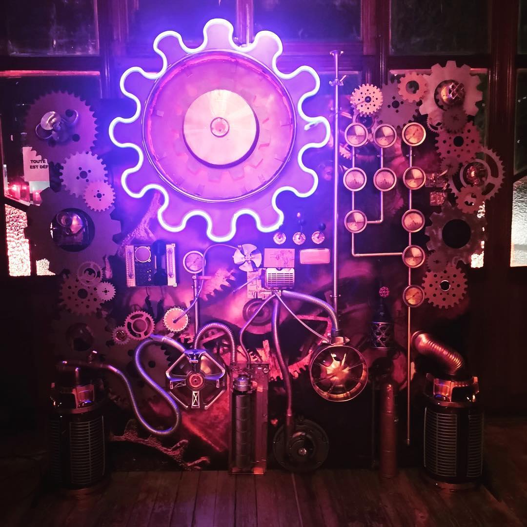 Neon LED sur Mesure ambiance SteamPunk