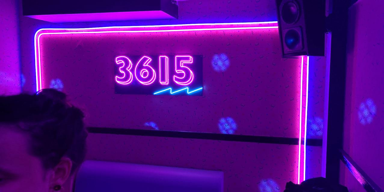 Logo 36 15 Neon LED personnalisée