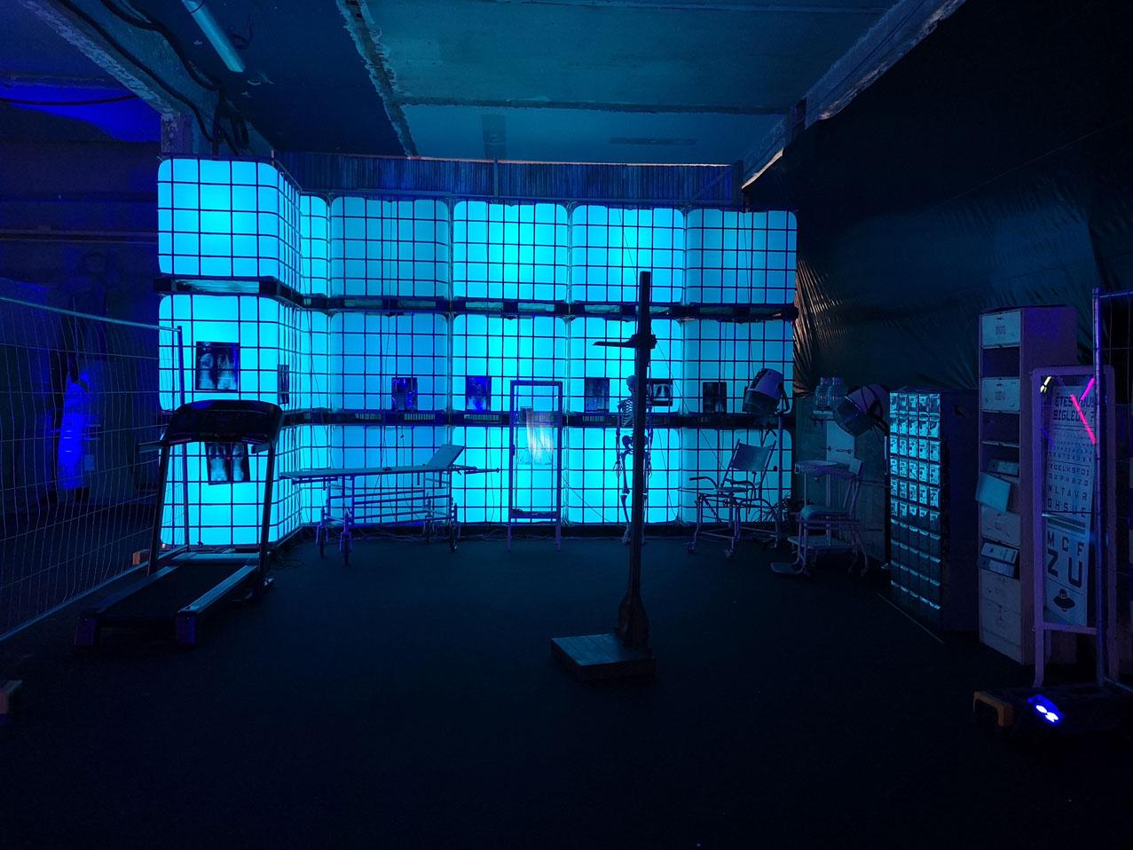 néon personnalisé bleu