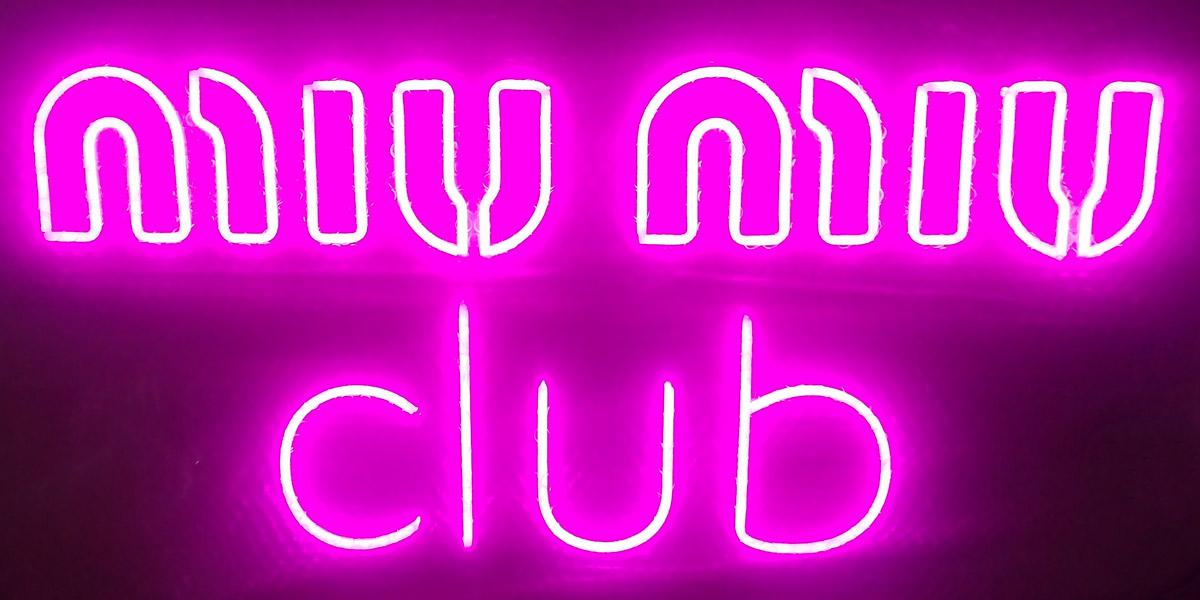 Neon Personnalisé MIU MIU