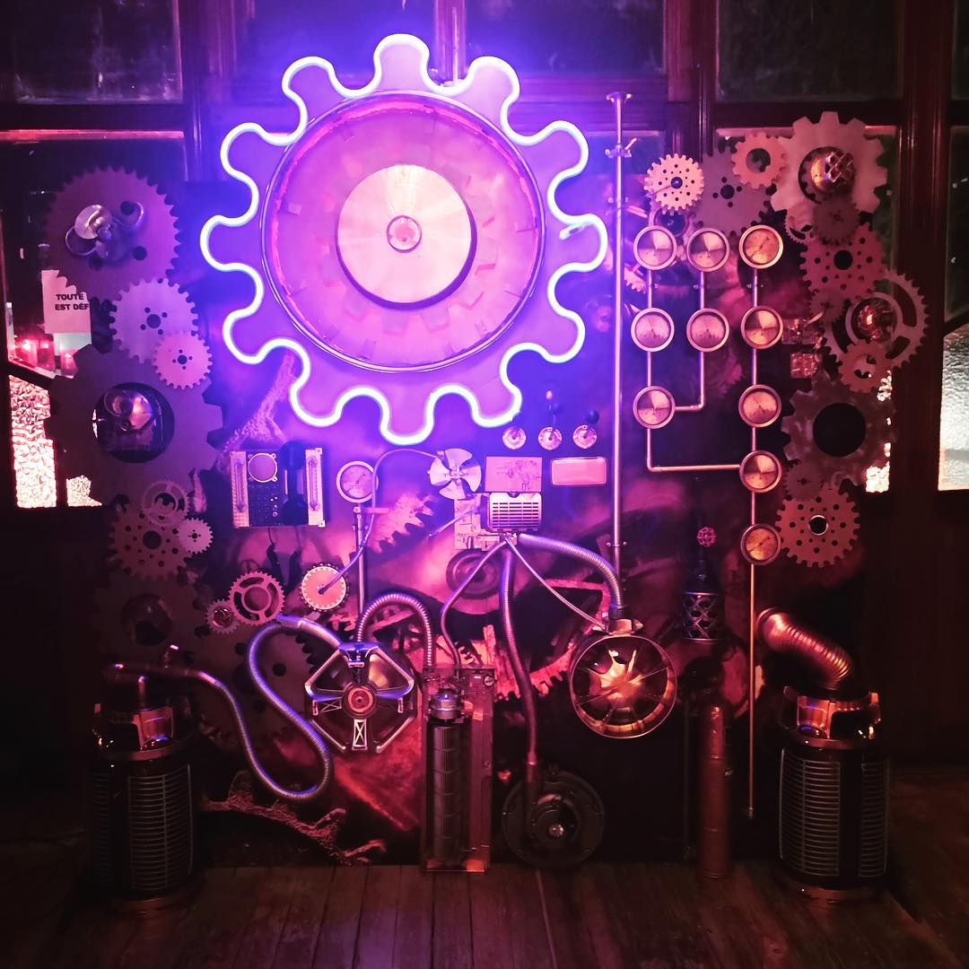néon personnalisé steampunk